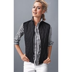 J. McLaughlin Bennett Quilted Tweed Ribbed Vest